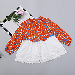billige Pigekjoler-Børn / Baby Pige Planter Langærmet Kjole