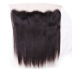 cheap Wigs & Hair Pieces-Brazilian Hair 4x13 Closure Straight Swiss Lace Human Hair Women's / All Best Quality / 100% Virgin / Lace Closure Christmas / Christmas Gifts / Wedding