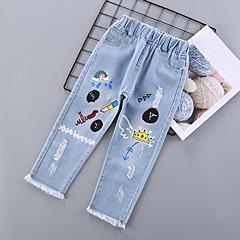 billige Bukser og leggings til piger-Børn Pige Trykt mønster Jeans