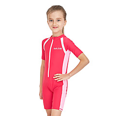 billige Badetøj til piger-Børn Pige Aktiv / Sexet Sport / Strand Ensfarvet Kort Ærme Bomuld Badetøj