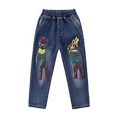 billige Jeans til drenge-Børn Drenge Aktiv Trykt mønster Hul / Trykt mønster Bomuld Jeans
