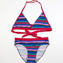 billige Badetøj til piger-Børn Pige Strand Stribet / Farveblok Trykt mønster Bomuld Badetøj