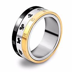 billige Motering-Herre Elegant Band Ring / Multi-fingerring - rustfritt Dyr Stilfull, Unikt design, Hip-hop 7 / 8 / 9 Gull / Svart Til Gate / Ut på byen