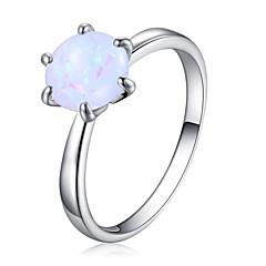 billige Motering-Dame Kubisk Zirkonium Elegant Solitaire Ring - Platin Belagt Europeisk, Romantikk 6 / 7 / 8 / 9 Hvit Til Bursdag Gave