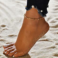 baratos Bijoux de Corps-Fio Único tornozeleira - Europeu, Na moda Dourado / Prata Para Presente / Para Noite / Mulheres