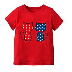 billige Pigetoppe-Baby Pige Ensfarvet Kortærmet T-shirt