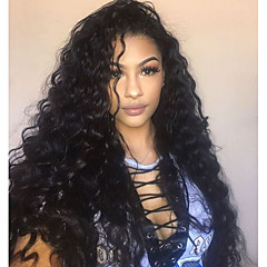 cheap Wigs & Hair Pieces-Virgin Human Hair 360 Frontal Wig Brazilian Hair Wavy Wig With Ponytail 150% With Baby Hair / Women / Hot Sale Natural Women's Long Human Hair Lace Wig
