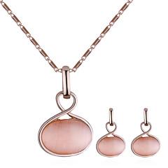 baratos Conjuntos de Bijuteria-Mulheres Torcido Conjunto de jóias - Simples, Europeu, Fashion Incluir Colar / Brinco Dourado Para Casual / Diário