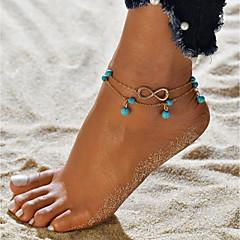 baratos Bijoux de Corps-Fio Único tornozeleira - Infinidade Na moda, Romântico, Doce Dourado Para Presente Para Noite Mulheres