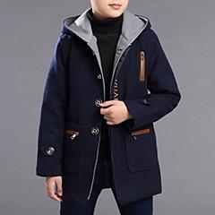 Χαμηλού Κόστους Μπουφάν και παλτό για αγόρια-Παιδιά Αγορίστικα Βασικό Μονόχρωμο / Ζακάρ Μακρυμάνικο Βαμβάκι / Πολυεστέρας Καμπαρντίνα Βαθυγάλαζο