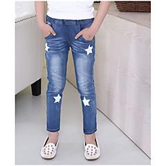 baratos Roupas de Meninas-Infantil Para Meninas Geométrica Jeans