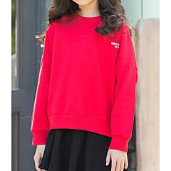 billige Jenteklær-Barn Jente Ensfarget Langermet T-skjorte