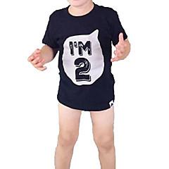 tanie Odzież dla chłopców-Brzdąc Dla chłopców Podstawowy Jendolity kolor Krótki rękaw T-shirt