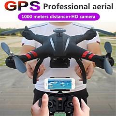billige Fjernstyrte quadcoptere og multirotorer-RC Drone XINGYUCHUANQI X22 RTF 4 Kanaler 6 Akse 2.4G Fjernstyrt quadkopter Auto-Takeoff Fjernkontroll / Kamera / 1 USD-kabel / 110 Degree
