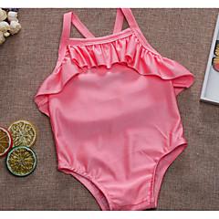 billige Badetøj til piger-Børn Pige Ensfarvet Uden ærmer Badetøj