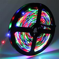 billiga Dekorativ belysning-5m Flexibla LED-ljusslingor 300 lysdioder 3528 SMD RGB Klippbar / Kopplingsbar / Självhäftande 12 V 1st