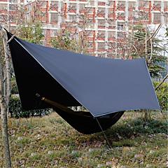 billige Telt og ly-5 person utendørs Familie Camping Telt Regn-sikker Ultra Lett (UL) Anvendelig UV-bestandig Dobbelt Lagdelt 1000-1500 mm Telt til Strand Camping / Vandring / Grotte Udforskning Picnic Oxfordtøy