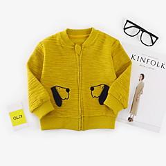 billige Hættetrøjer og sweatshirts til babyer-Baby Pige Basale Ensfarvet / Trykt mønster Langærmet Hættetrøje og sweatshirt