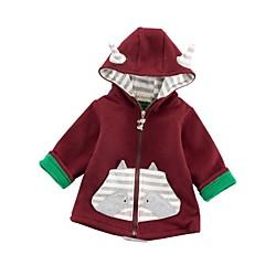 billige Overtøj til babyer-Baby Pige Ensfarvet Langærmet dun- og bomuldsforet