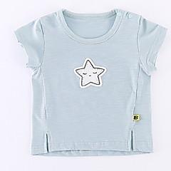 billige Babyoverdele-Baby Pige Basale Daglig Ensfarvet / Trykt mønster Kortærmet Normal Polyester T-shirt Lyserød