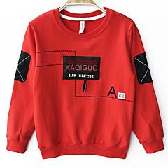 billige Hættetrøjer og sweatshirts til drenge-Børn Drenge Farveblok Langærmet Hættetrøje og sweatshirt