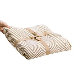 billiga Filtar och plädar-Super Soft, Reaktiv Tryck Randig Cotton filtar