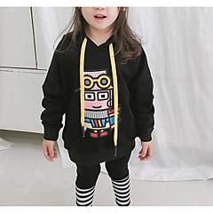 tanie Odzież dla dziewczynek-Brzdąc Dla dziewczynek Geometryczny Długi rękaw Bluza z kapturem / bluza