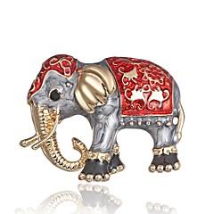 billige Motebrosjer-Dame Klassisk / Elegant Nåler - Elefant damer, Stilfull, Klassisk Brosje Smykker Gull Til Daglig