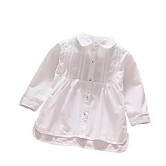 baratos Roupas de Meninas-Bébé Para Meninas Sólido Manga Longa Camisa
