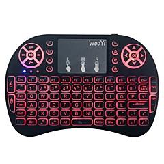 billiga Keyboards-Factory OEM 2.4G Multi färg bakgrundsbelysning 92 pcs Office Keyboard Färggradient Batteridriven driven