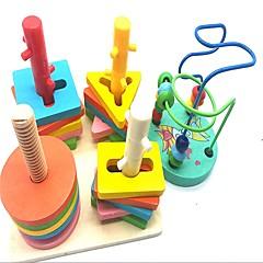 Χαμηλού Κόστους Παιχνίδια άβακας-Παιχνίδι άβακας Σχολείο / γεωμετρική Pattern Δημιουργικό Ξύλινος / Ξύλο-Πλαστικό Σύνθετο 2 pcs Κομμάτια Παιδικά / Στοιχειώδης Δώρο
