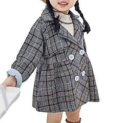 baratos Roupas de Meninas-Bébé Para Meninas Sólido Manga Longa Terno & Blazer