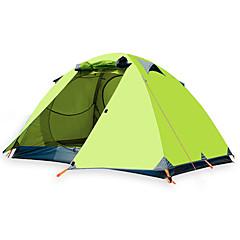 billige Telt og ly-BSwolf 3 person Familie Camping Telt Dobbelt Lagdelt Stang camping Tent Utendørs Regn-sikker, Pusteevne til Fisking / Klatring / Strand >3000 mm Oxfordtøy, Terylene, Ultra Lett Aluminium 210*180*120