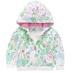 billige Overtøj til babyer-Baby Pige Basale Ensfarvet / Trykt mønster Langærmet Trenchcoat