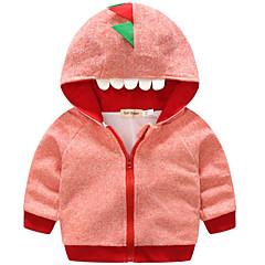 billige Jakker og frakker til piger-Baby Pige Basale Daglig Farveblok Langærmet Normal Polyester Jakke og frakke Blå