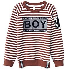 tanie Odzież dla chłopców-Dzieci Dla chłopców Prążki Długi rękaw Bluza z kapturem / bluza