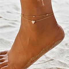 billige Kropssmykker-Lag-på-lag Yoga Ankel fotlenke - Kjæreste Bohemsk, Mote Gull / Sølv Til Gave Ferie Dame