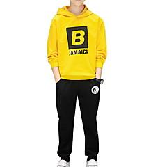 billige Tøjsæt til drenge-Børn Drenge Ensfarvet / Trykt mønster Langærmet Tøjsæt