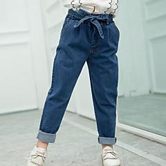billige Jeans til piger-Børn Pige Gade I-byen-tøj Ensfarvet Jeans