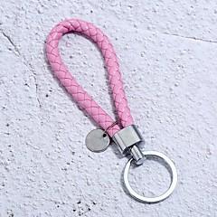 baratos Chaveiros-Chaveiro Vermelho / Azul / Rosa claro Irregular Pele, Liga Básico, Fashion Para Diário / Escola