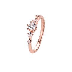 billige Motering-Dame Krystall Klassisk / Elegant Ring / Tail Ring - Fuskediamant Blomst Enkel, Koreansk, Søt Hvit / Grønn / Rosa Til Daglig / Ut på byen / Klubb