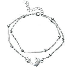 billige Kropssmykker-Elegant fotlenke - Delfin Kunstnerisk Sølv Til Ut på byen Bikini Dame