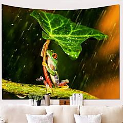 billige Veggdekor-Frosk Veggdekor 100% Polyester Moderne Veggkunst, Veggtepper Dekorasjon