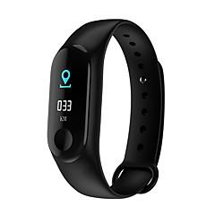 tanie Inteligentne zegarki-Inteligentne Bransoletka M3 na Android iOS Bluetooth Pulsometry Pomiar ciśnienia krwi Spalonych kalorii Śledzenie Odległość Informacje Krokomierz Powiadamianie o połączeniu telefonicznym Rejestrator