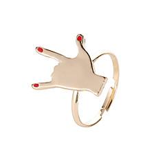 billige Motering-Dame Elegant Ring Åpne Ring - Legering Kreativ trendy, Koreansk Fatimas hånd Justerbar Gull Til Daglig Kveld og spesielle anledninger Maskerade