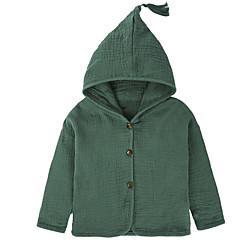 billige Overdele til drenge-Børn Drenge Basale Daglig Ensfarvet Langærmet Polyester Bluse Lyserød 100
