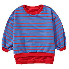 billige Hættetrøjer og sweatshirts til drenge-Børn / Baby Drenge Aktiv Daglig Trykt mønster Patchwork Langærmet Normal Bomuld Hættetrøje og sweatshirt Rød