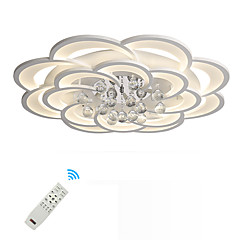 billiga Dekorativ belysning-UMEI™ Geometriskt / Originella Takmonterad Glödande Målad Finishes Metall Akryl Kristall, Ny Design 110-120V / 220-240V Varmt vit / Vit / Dimbar med fjärrkontroll LED-ljuskälla ingår / FCC