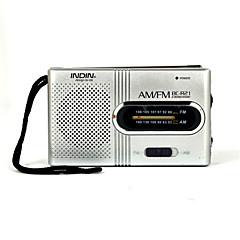 Χαμηλού Κόστους Ράδιο-BC-R21 Φορητό ραδιόφωνο MP3 player Παγκόσμιος δέκτης Ασημί
