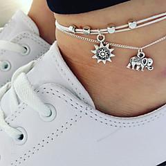 billige Kropssmykker-Elegant fotlenke - Elefant Kunstnerisk Sølv Til Ut på byen Bikini Dame